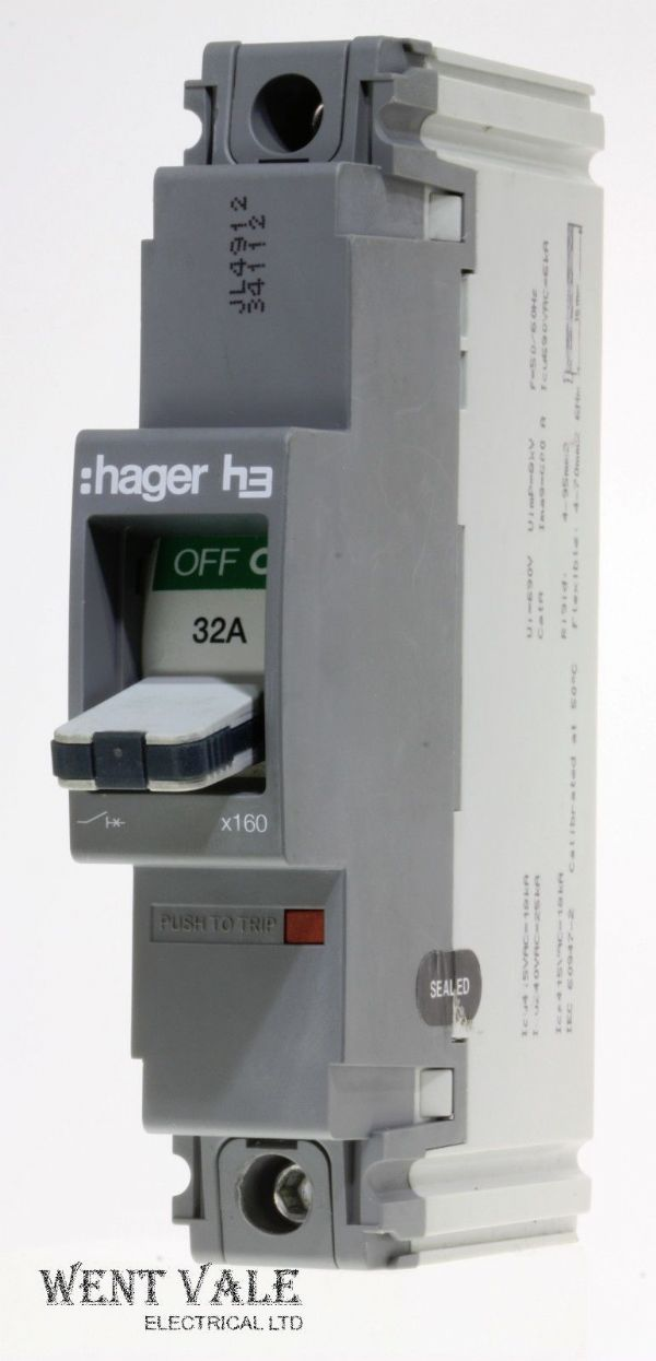 Hager H3 - HDA030Z1 - 3131587 - 32a Single Pole MCCB Used